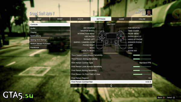 GTA V settings