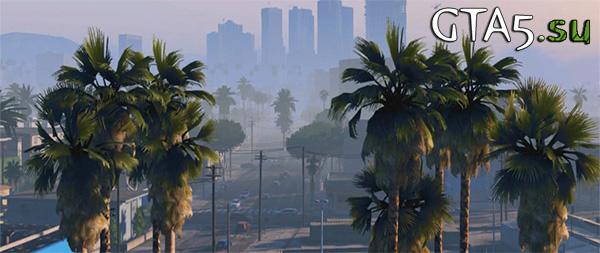GTA 5 город и пальмы