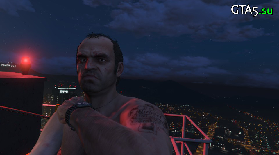 GTA V PC Trevor night selfie