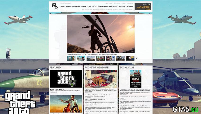 Rockstar Games site