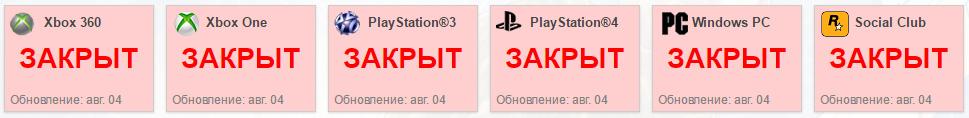 GTA Online не работает