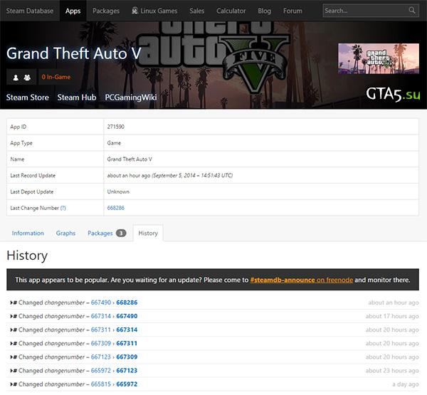 GTA V Steam Database