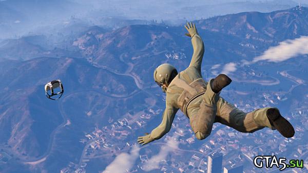 Погоня за парашютом