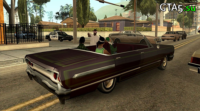 GTA San Andreas Xbox 360 screen