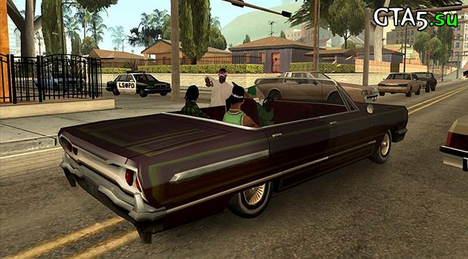 GTA San Andreas Xbox 360 screen