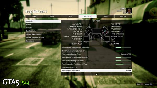 GTA V settings