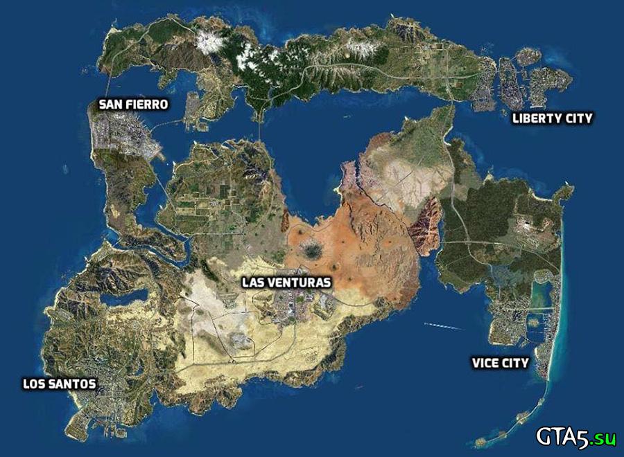 Большая карта GTA
