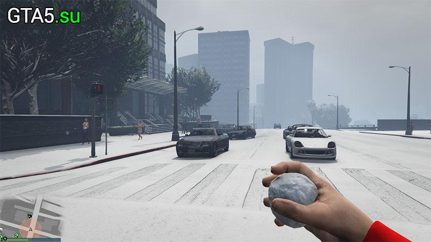 В GTA Online идёт снег