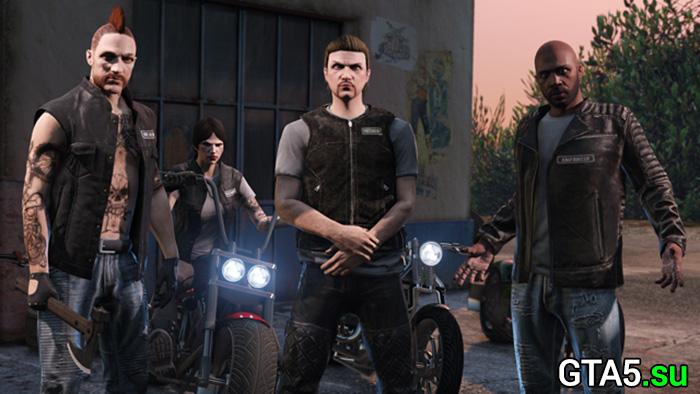члены мотоклуба