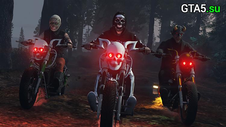 Пропащие против обреченных и мотоцикл LCC Sanctus на Хэллоуин в GTA Online