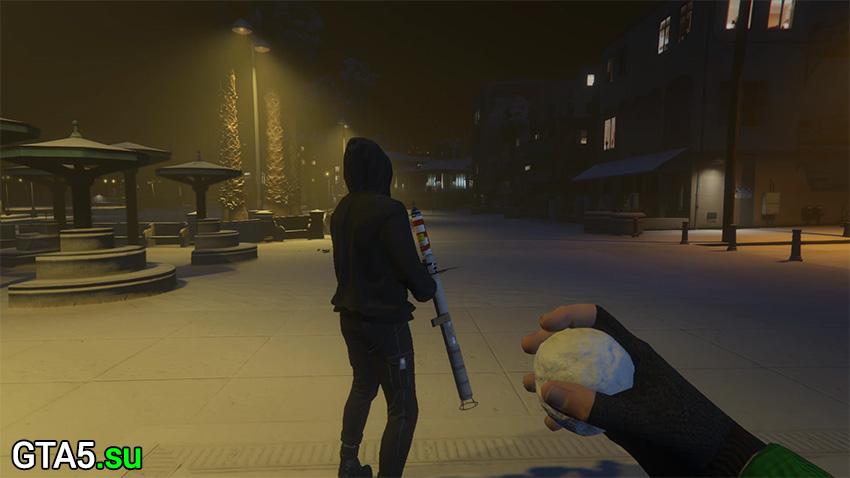 Снежки в GTA Online