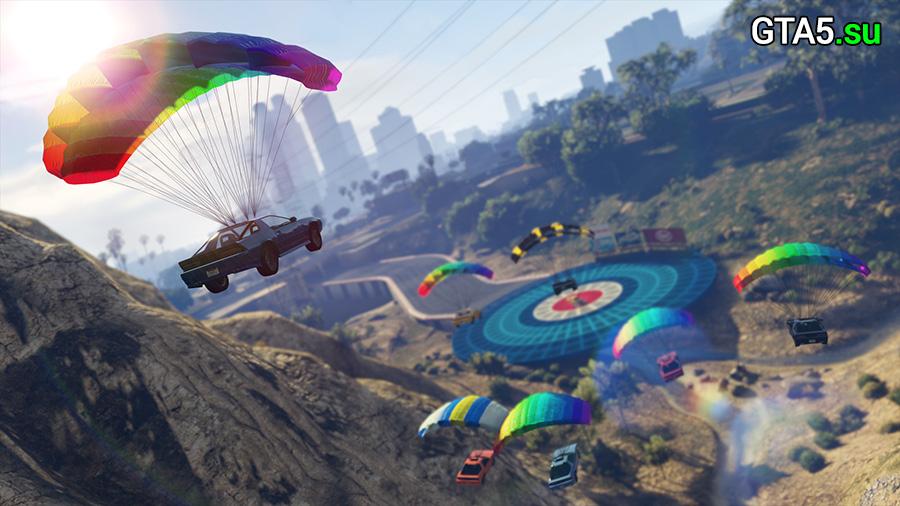 Машины на парашюте