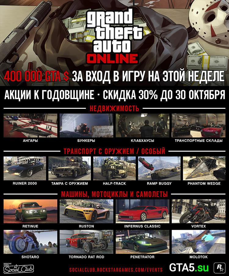 Акции GTA Online