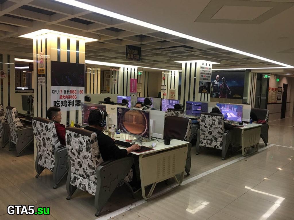 Игровой клуб в Китае