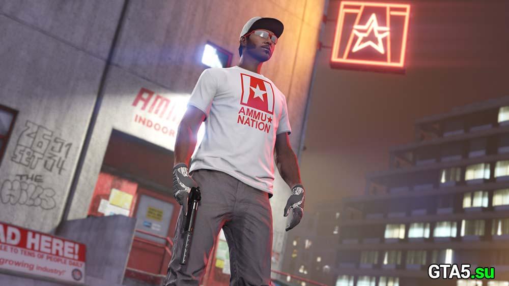 белая футболка Амму-Нация