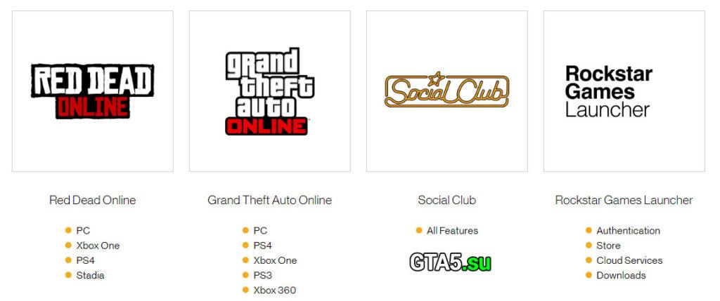 Статус серверов Rockstar Games