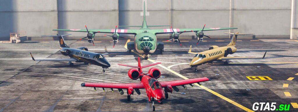 Ангар с самолётами