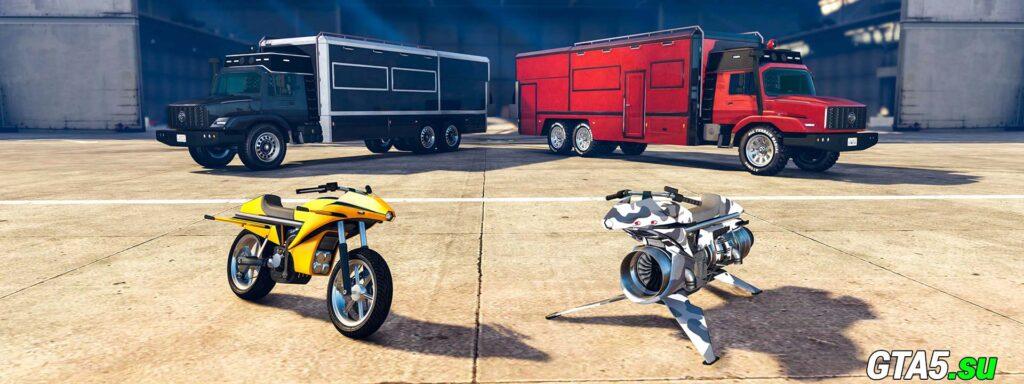 Грузовики и мотоциклы